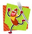 cartoon sausage vector image
