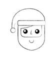 christmas santa claus with hat celebration cartoon vector image