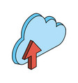 Cloud storage with up arrow icon image vector image