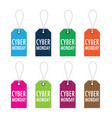 cyber monday tags vector image