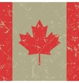 grunge square flag of Canada vector image