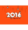Happy New Year 2016 Text Design Flat vector image