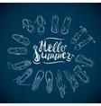 Hello Summer Blue vector image