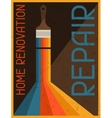 Home renovation repair Retro poster in flat design vector image