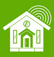 house icon green vector image