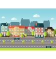 Landscape City Background vector image
