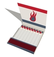 Matchbook with matches vector image