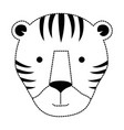 wild tiger head icon vector image