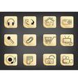 icons on blackboard vector image vector image