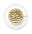 Realistic Coffee Foam vector image