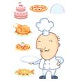Chef man vector image vector image