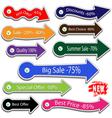 Arrows for sale vector image vector image