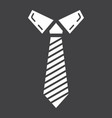 tie solid icon business and necktie vector image