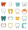 Tooth  teeth icons set vector image