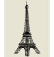 eiffel tower sketch vector image