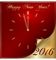 2016 new year gold and red vector image