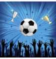 soccer championship background vector image