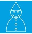 Birthday boy thin line icon vector image