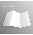 Blank map vector image