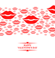 kiss card gorisontal pink vector image