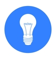 Lightbulb icon in black style isolated on white vector image