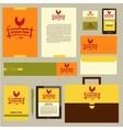 logo Hand drawn hen Corporate identity vector image