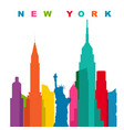 multicolored new york city flat vector image