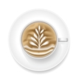 Realistic Coffee Foam vector image