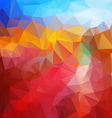 red fire blue polygonal triangular pattern vector image