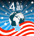 4 th July Independence Day American Flag with vector image vector image