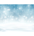 Silver blue winter Christmas blurry lights vector image