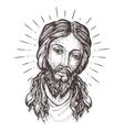 Hand-drawn portrait of Jesus Christ Sketch vector image vector image