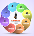 Circle rotation with icons vector image vector image