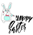 happy easter lettering for greeting card vector image