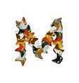 letter m cat font pet alphabet symbol home animal vector image
