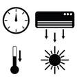 heating icon set vector image
