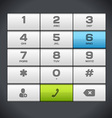 White Number Phone Keypad vector image