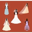 Bride set icons in cartoon style Big collection vector image