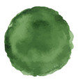 bright dark green watercolor painted stain vector image