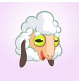 cartoon sheep mascot character vector image