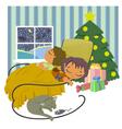 children sleeping vector image