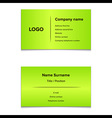 Green Business Card vector image