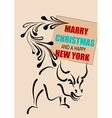 new york christmas vector image