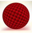 Red glossy sphere isolated on white EPS 8 vector image