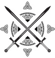 celtic swords vector image vector image