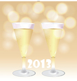 Christmas champagne vector image vector image