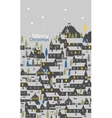 The greeting card with a village of a one-story vector image