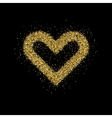 Gold glitter Christmas tree vector image