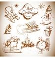 Hand-drawn New Year and Christmas set vector image vector image