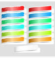 Colorful paper labels vector image